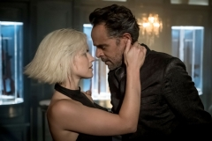"GOTHAM: L-R: Erin Richards and Alexander Siddig in ""A Dark Knight: They Who Hide Behind Masks"" episode of GOTHAM airing Thursday, Oct. 5 (8:00-9:01 PM ET/PT) on FOX. ©2017 Fox Broadcasting Co. Cr: Jeff Neumann/FOX."