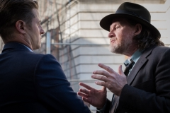 "GOTHAM: L-R: Ben McKenzie and Donal Logue in the ""A Dark Knight: A Day in the Narrows"" episode of GOTHAM airing Thursday, Nov. 2 (8:00-9:01 PM ET/PT) on FOX. ©2017 Fox Broadcasting Co. Cr: Jeff Neumann/FOX"